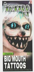 Temporary Tattoo FX Cheshire Cat Big Mouth Makeup Brush Tinsley Transfers