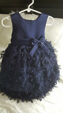 Couture Princess size 2T NAVY flower girl bridemaid party birthday dressy dress