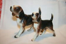 """""""Beagle"""" collared adult & pup hunting dogs vintage."""