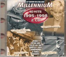 2 CD COMIL 40 TITRES--MILLENNIUM / 40 HITS 1995-1998--REDNEX/N-TRANCE/VENGABOYS