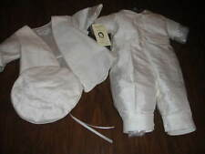 NWT NEW PICCOLO BACIO DIEGO 6M 6 MONTHS SILK BAPTISM OUTFIT SUIT COAT
