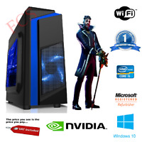 Ultra Fast Gaming PC Quad Core i5 Computer GT710 1TB HDD 8GB RAM Win 10 Desktop