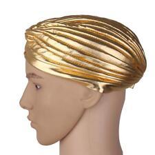 Golden Indian Comfy Headwrap Cap Hat Cloche Chemo Hair Turban Cover Headband