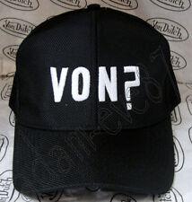 VON DUTCH BASEBALL CAP ~ VON? EMBROIDERED IN FRONT IN WHITE ~ BLACK /BLACK MESH