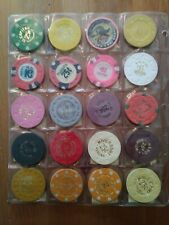 Lot Of 20 Vintage Casino chips