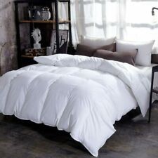 Goose Down Duvet Quilted Quilt King Queen Full Size Comforter Thick  Solid Color