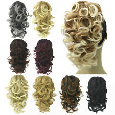 Women Curly Claw Clip on Ponytail Heat Resistant Synthetic Fiber Hair Extensions