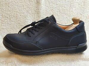 Ecco mens Comfort shoes Leather Triple Black UK 8 EUR 42