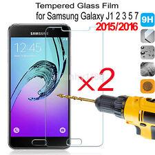 2Pcs 9H Tempered Glass Film Screen Protector For Samsung GALAXY J3 J5 J7 2016 US