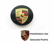 Genuine Porsche 997 987 Cayenne Black Colored Crest Wheel Center Cap