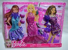 NIB 2012 BARBIE,MIDGE,RAQUELLE,NIKKI,TERESA 3 PACK FASHIONISTAS PARTY FASHIONS +