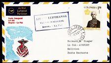 "Erstflug LH ""Bogota - La Paz"" 07.04.1968 !! HaSi. 1018 -selten-"