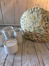 """William Morris Teapot Cosy - Handmade, padded/quilted - in """"Fruits"""" Fabric"""
