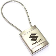 Suzuki Logo Metal Silver Chrome Cable Car Key Chain Ring Fob