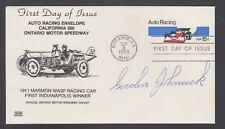 Gordon Johncock, American Race Car Driver, Indy Winner, signed Auto Racing FDC