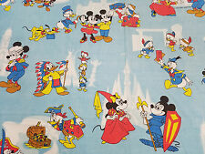 Vintage Walt Disney Productions Twin Bedding Fitted Sheets Mickey Friends Pluto