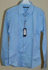 Camicia uomo shirt man sorbino taglia l celeste art110 casual elegante made in i