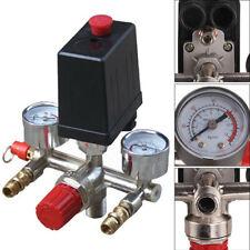 230V Air Compressor Pressure Switch Control Valve Manifold Regulator Gauges Kit