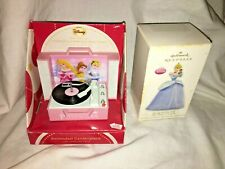 Lot of 2 Disney ornaments. Cinderella Ready for the Ball - 2012 and PRINCESSES.
