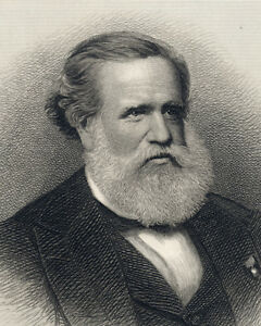His Majesty Emperor of Brazil DOM PEDRO II engraving HB Hall Jr. sculp