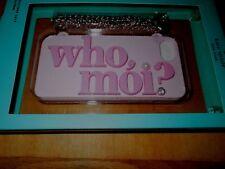 NIB Kate Spade Disney Miss Piggy Who, Moi? iPhone 7 Pink Silicone Case w Chain