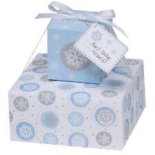 2 X Bleu Noël Flocons de Neige Cadeau Boites Empilable Cookie Coffrets