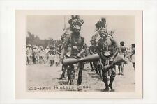 G-725 Head Hunters Dance in Traditional Dress WWII Pacific Theater Photo
