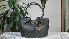 NWT Michael Kors Leather Medium East West Ring Tote Black