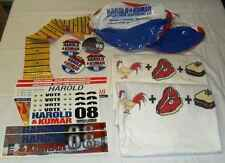 New Harold and Kumar Promo Package T-Shirts Buttons Stickers Beach Balls Guitar