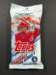 2021 Topps Series 1 Cello Pack- 40 Cards Per Pack- Factory Sealed Autos,RELIC  ?