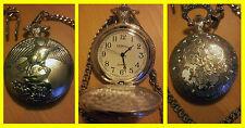 .DEBULL EAGLE DESIGN Silber Tasche Quarzuhr Zug (silver pocket quartz watch)