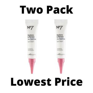 *LOT OF 2*  No7 Restore & Renew Multi Action Eye Cream - 15ml/0.5 fl oz - New