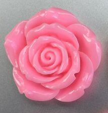 4 x Extra Large Resin Flowers - 42mm - Pink - Crafts