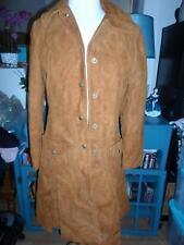 Vintage Rust Suede Duster Coat Jacket 14