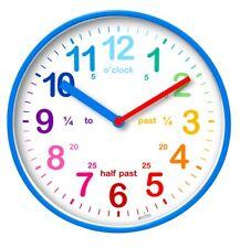 Acctim Wickford Kids Children Time Teaching Wall Clock - 20cm - Blue