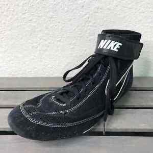 Nike Speedsweep VII Wrestling Shoes Sz Men's 9 Black White Trim Lace Up