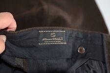 Sartori Men's Slacks Trousers Dress Pants Size 35 Color Brown Made In Italy