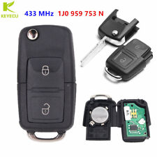 2B Flip Remote Key Fob 433MHz ID48 for 1998-2001VW PASSAT GOLF MK4 1J0 959 753 N
