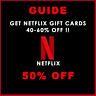 Netflix Gift Cards UP To 40-60% Off Discounted
