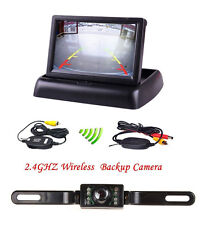 "Wireless 4.3 "" Klapp LCD Monitor IR-Nachtsicht Funk Rückfahrkamera Kamera Kit"