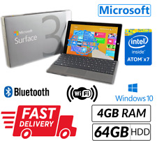 Microsoft Surface 3 Table 4GB RAM 64GB HDD Win 10 Webcam UK Seller Sim Excellent