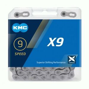 KMC X9 silver 9 speed chain