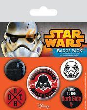 STAR WARS - Dark Side - Button Set - Badge Pack - Neu OVP - The Force Awakens