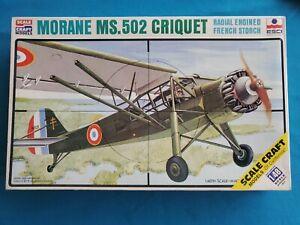 Morane-Saulnier MS.502 CRIQUET - ESCI 1/48 SCALE AIRCRAFT #SC-4023 - SEALED/NIB