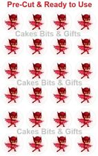 24x PJ Masks Edible Wafer Cupcake Cake Toppers Pre-cut Ready to Use Pjmasks