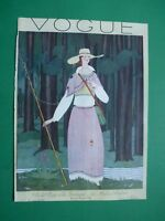 Vogue Magazine 1 Aout 1924 August Original Cover Only Georges Lepape Art Deco