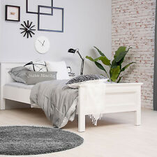 Jugenbett SANDRO 90x200 Gästebett Bettgestell Bett weiß Schlafbett Kinderbett