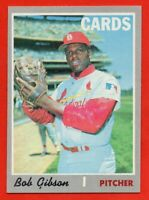1970 Topps #530 Bob Gibson EX-EXMINT+ WRINKLE St. Louis Cardinals FREE SHIPPING