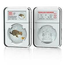 Fiji 2014 Dogs & Cats V Wild Cat Prionailurus Rubiginosus 1 Oz Silver Proof Coin