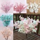 CHIC Peach Blossom Cherry Plum Branch Silk Flowers Home Wedding Decor Bouquet